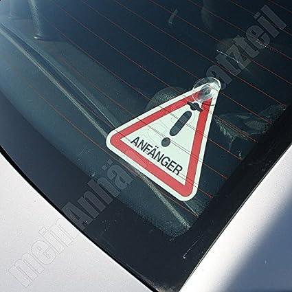 Anfänger Fahranfänger Dreieck Mit Saugnäpfen Saugnapfbefestigung Saugfuss Auto