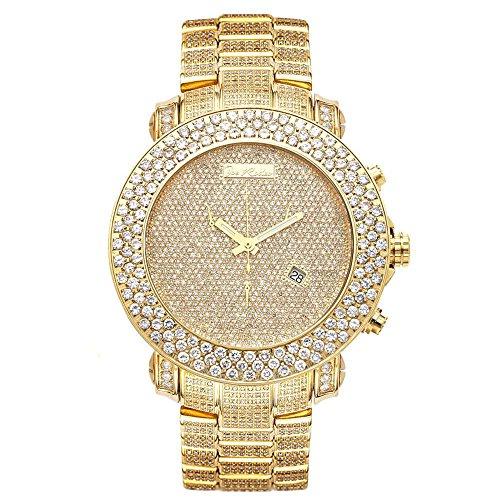 Joe Rodeo Diamond Men's Watch - JUNIOR gold 25.5 ctw
