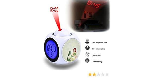 Wet Girlsight For LED Wall//Ceiling Projection,Customize the pattern-791.Tiger Wild Animal Face Beautiful Projection Alarm Clock Wake Up Bedroom with Data and Temperature Display Talking Function Water
