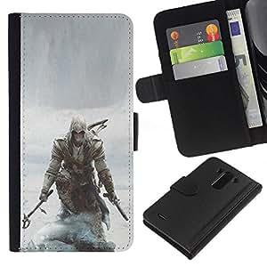 NEECELL GIFT forCITY // Billetera de cuero Caso Cubierta de protección Carcasa / Leather Wallet Case for LG G3 // Asesinos pirata