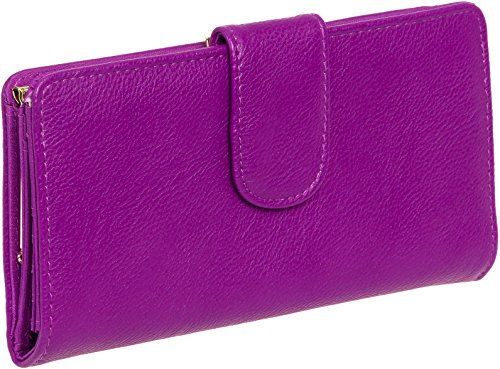 Mundi Womens Suburban Rio Checkbook Clutch Wallet (Bright Purple)