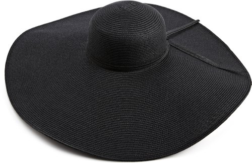 San Diego Hat Company Women's Ultrabraid X Large Brim Hat,Black,One Size -