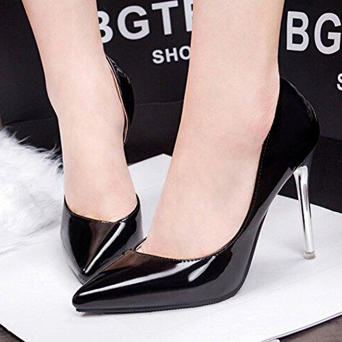 Noir Padgene Escarpins Aiguille Club 10cm Soirée Sexy Femme Plateformes Talon Mariage wv1wR