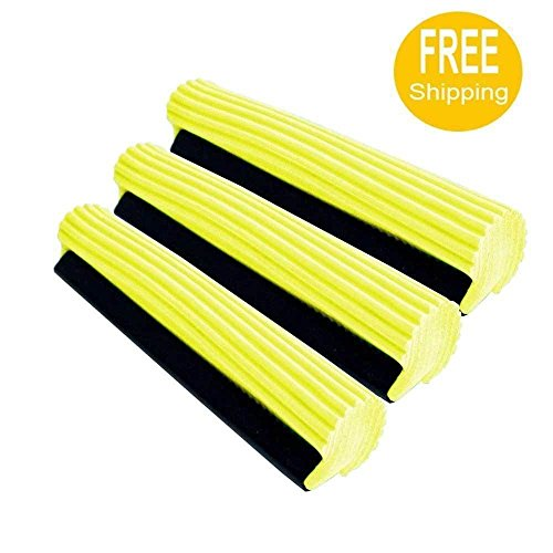 (PVA Professional Double Roller Ultra Foam Rubber Mop Head Replacement (3x))