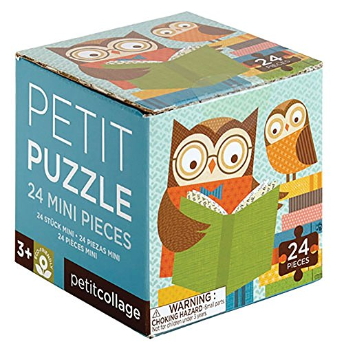 Petit Collage Petit Puzzle, Reading Owls (Petit Collage Owl)