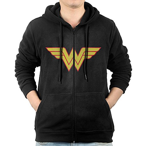 [GGDDAA Mens Avengers Wonder Woman Logo Cross-country Vintage Hoodie Hooded Sweatshirt Leisure Style M] (National Costume Of All Countries)