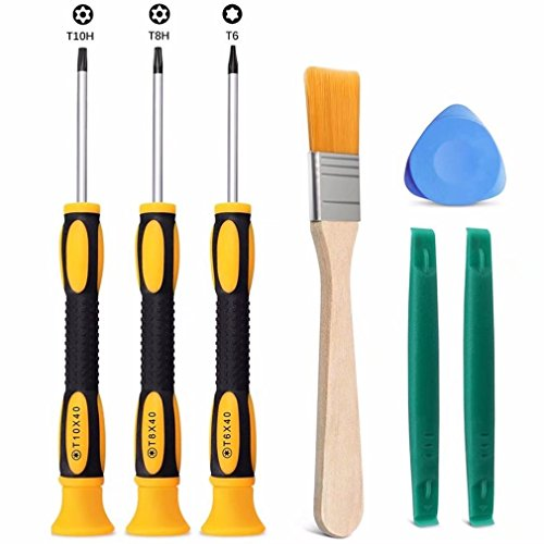 Jahyshow T8 T6 T10 Screwdriver Set for Xbox One Xbox 360 Controller and PS3 PS4, Safe Prying Tool and Cleaning ()