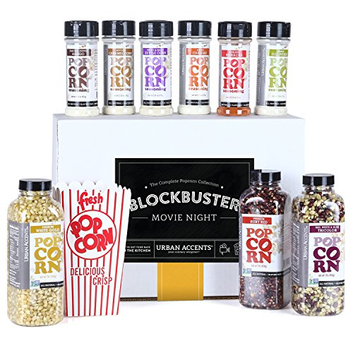 Urban Accents BLOCKBUSTER Movie Night Popcorn Seasoning Gift Set, Hostess Gift For Any Occasion by Urban Accents
