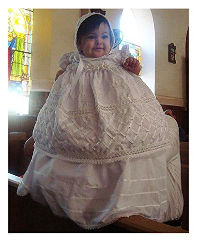 Baby-girls Heirloom Christening Baptism Gown Dress (Burbvus Ropones) Handmade - Silk by Burbvus (Image #5)