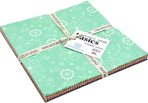 KimberBell Basics Colors 10'' Squares 42 Pieces Layer Cake Maywood Studio by Maywood Studio