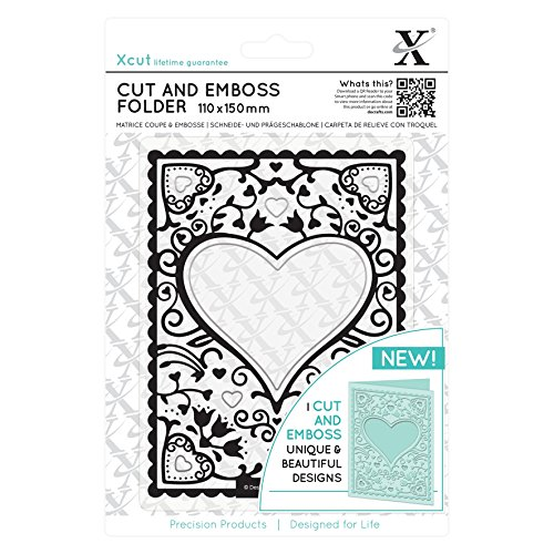 DOCrafts XCU503803 Xcut Cut & Emboss Folder 110mm X 150mm-Heart Frame by DOCrafts