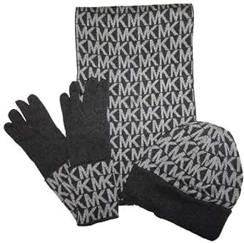 Amazon.com: Michael Kors Women's MK Logo Knit Scarf, Hat