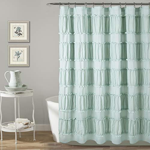 Lush Decor Nova Ruffle Shower Curtain, 72