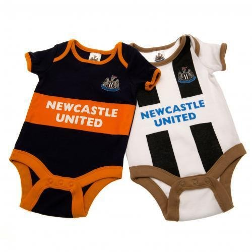 2X Newcastle United FC Football Club New Baby Babygrow Playsuit Vest 6-9 Months Other