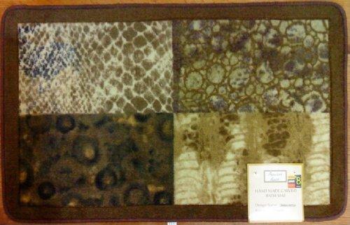 Zambia II Patch Safari Cheetah Leopard Hand Made Carved Rug ()