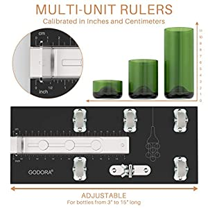 Glass Bottle Cutter, Upgraded Glass Cutter for Bottles & Glass Cutter Bundle - DIY Machine for Cutting Wine, Beer or Soda Round Bottles & Mason Jars, Perfect Score Glass Bottle Tool Set
