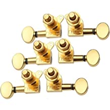 DN 3 Pairs Gold Sealed Guitar String Tuning Pegs Tuners Machine Heads Keys 3L3R