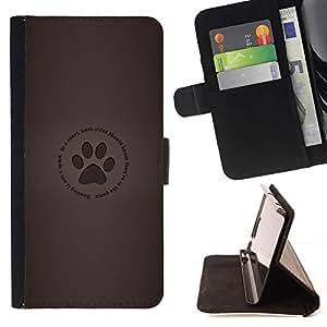 Momo Phone Case / Flip Funda de Cuero Case Cover - Huella;;;;;;;; - LG G3