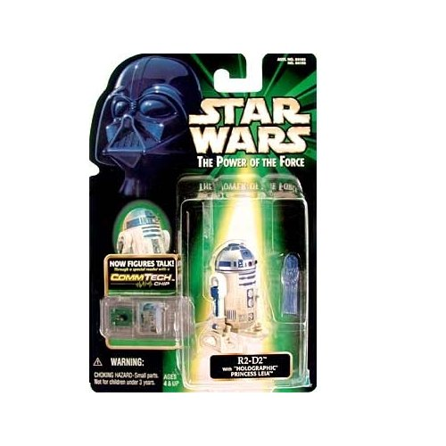 Star Wars  Power Of The Force Commtech R2 D2 With Holographic Princess Leia Action Figure