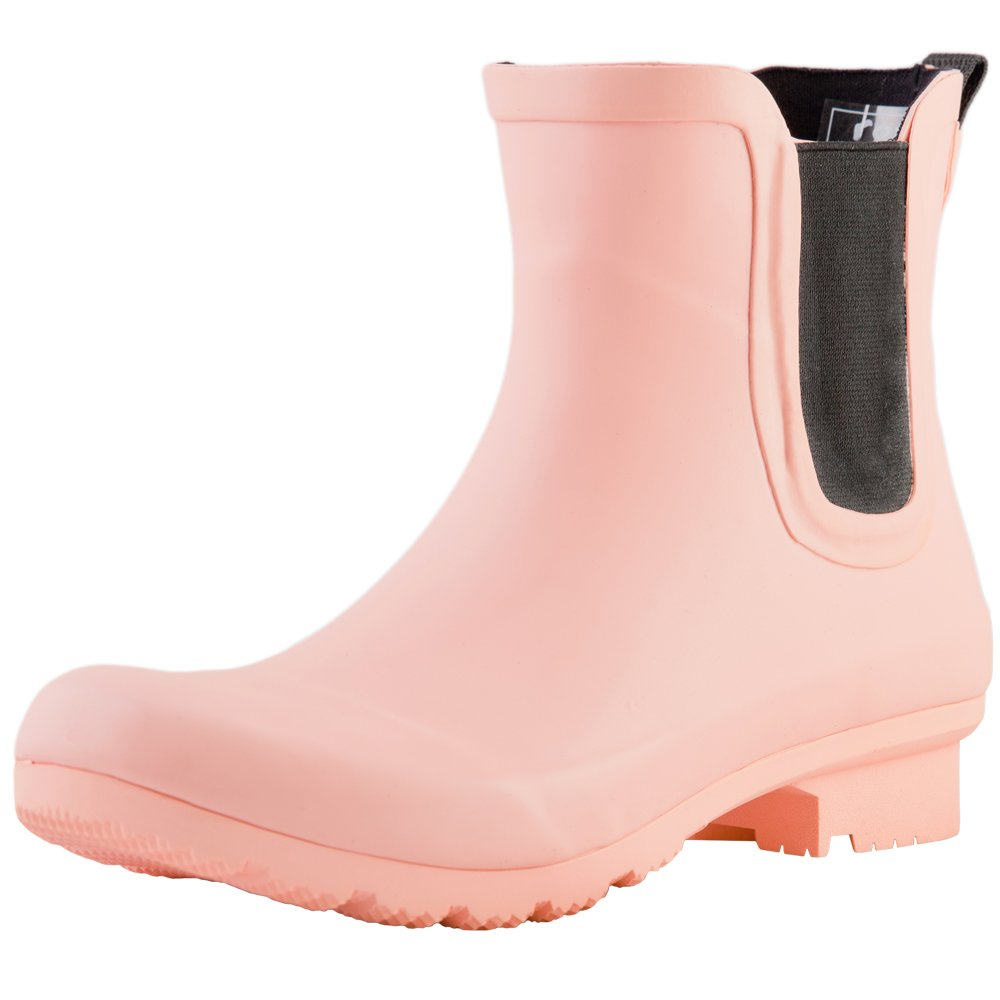 Roma Women's Chelsea Rain Boots (10 B(M) US, Matte Blush)