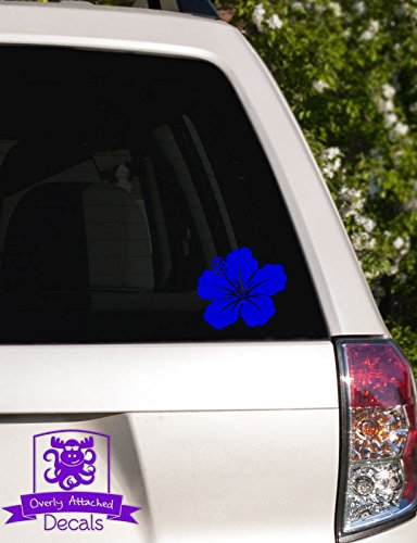 Overly Attached Decals Hawaiian Flower Vinyl Car Decal - 10