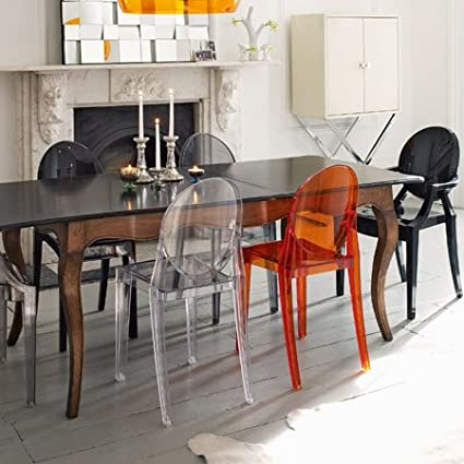 B4//cristallo Transparent polycarbonate Crystal Kartell Victoria Ghost 4857 Color
