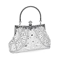 UBORSE Women's Vintage Beaded Sequined Evening Bag Wedding Party Handbag Clutch Purse