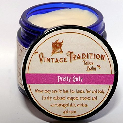 "Price comparison product image Vintage Tradition Pretty Girly Tallow Balm, 100% Grass-Fed, 2 Fl Oz ""The Whole Food of Skin Care"""