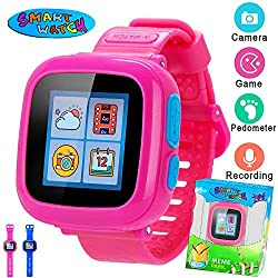 Kids Smart Watch with Camera Boys Girls Children Game Watch 1.5 Touch Screen 10 Games Alarm Clock Pedometer Health Monitor Sport Watch Eductional Learning Toys for School Summer Outdoors Travel Birt