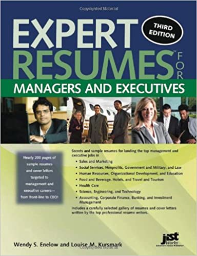 expert resumes for managers and executives 3rd ed wendy enelow