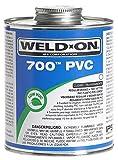 Weldon 1681-4022 10082 1/4 Pint 700 PVC Cement, Clear by Weldon