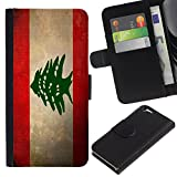 Graphic4You Vintage Lebanese Flag of Leb