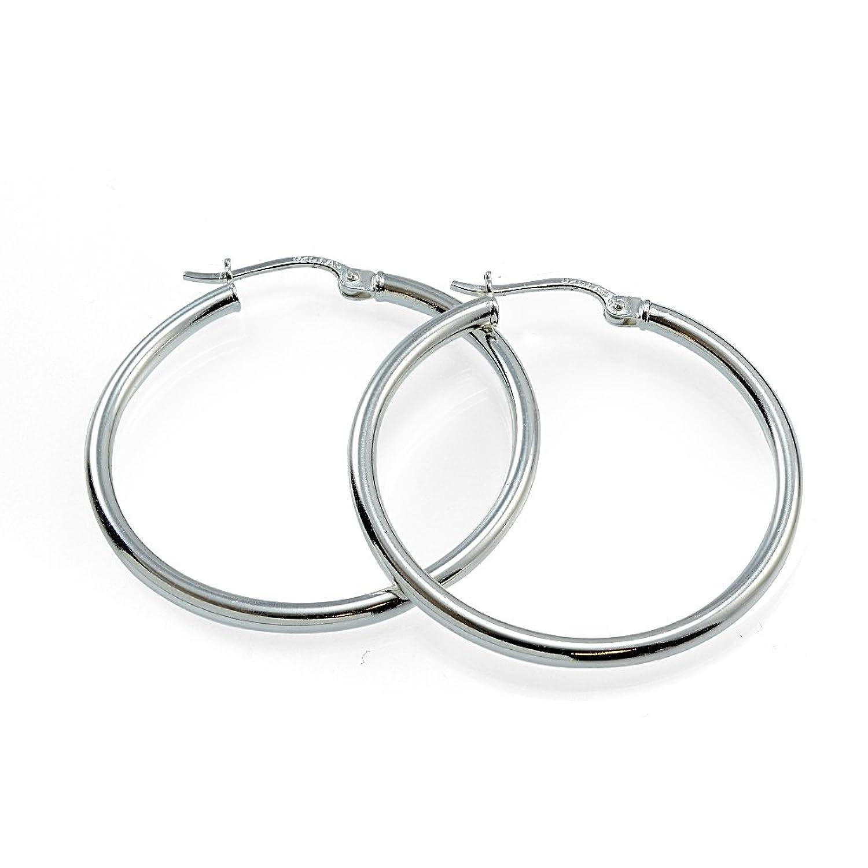 Hoops Loops Sterling Polished Earrings Image 2