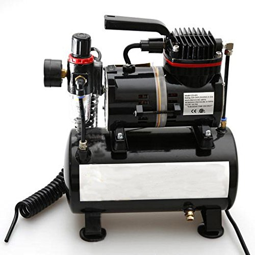 Model Spray Pump Mini Air Compressor Wall Paint Car paint Tool Airbrush with Cylinder 220V by MXBAOHENG (Image #5)