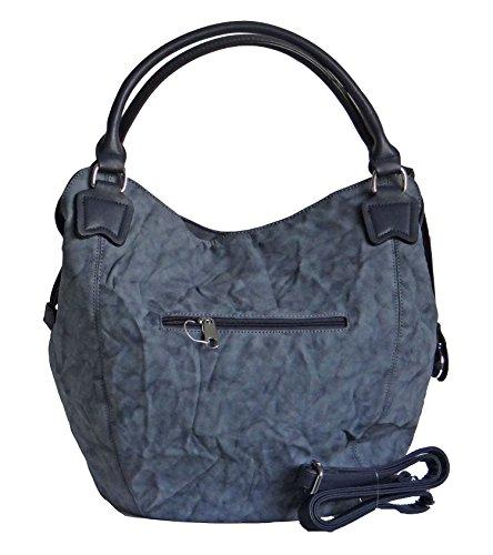 trendige angesagte Tasche, Umhängetasche,Shopper Velouroptik im Knitterlook