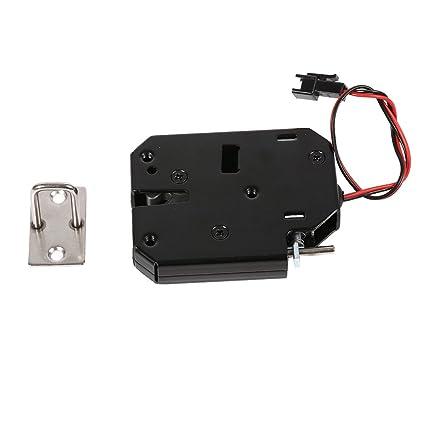 Cerradura Electrica 12V, Acero al Carbono Sistema de Seguridad Para Casilleros Eléctricos Cajón Gabinete Cerradura