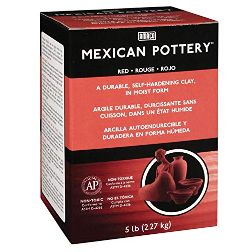 Mexican Clay - AMACO Mexican Self-Hardening Clay, 5-Pound, Red