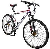 Merax Finiss 26' Aluminum 21 Speed Mountain Bike with Disc Brakes