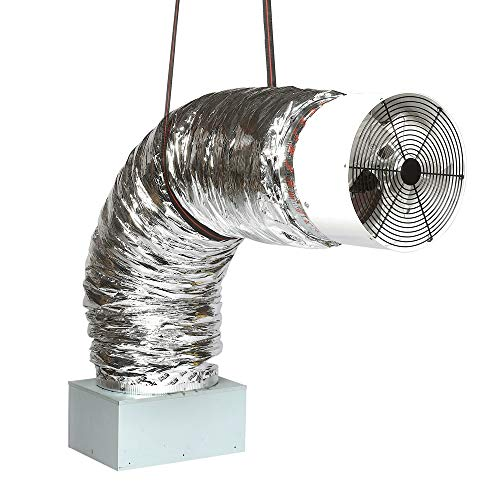 Insulation Fan Motor (QA-3300(R) Whole House Fan | Includes On/Off Wireless Remote Control | 2425 CFM (HVI-916) | for Homes Upto 1450 sqft | 10-Year Fan Motor Warranty | Quiet Cool Operation | Offered by QA-Deluxe Fans)