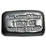 1 oz Atlantis Mint Poured Silver Bar