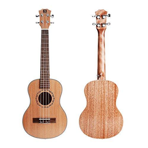 Vangoa - UK-21M Soprano 21 inches Acoustic Ukulele in Mahogany with Nylon Strap, Pick, Pick Container, Carry Bag, Tuner, Kazoo, Backup Strings, Finger Shaker - Image 1