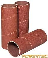 POWERTEC 11213 4-1/2-Inch x 1-1/2-Inch 120 Grit Sanding Sleeves, 3-Pack