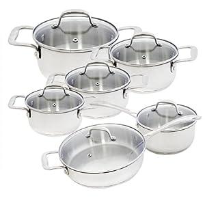 Alpine cuisine 12 piece stainless steel for Alpine cuisine cookware