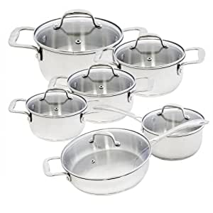 Alpine cuisine 12 piece stainless steel for Alpine cuisine ceramic cookware
