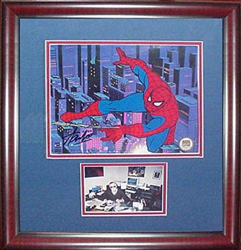 Stan Lee Spider Man signed animation cel auto autograph framed Marvel 21x19 COA