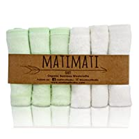 Matimati Bamboo Baby Washcloths (6-pack) - Premium Extra Soft & Absorbent Tow...