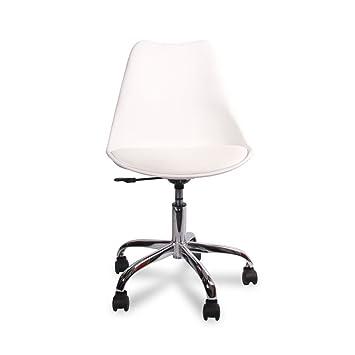 Silla de oficina, acero inoxidable, Inspiración DSW Office, patas con ruedas