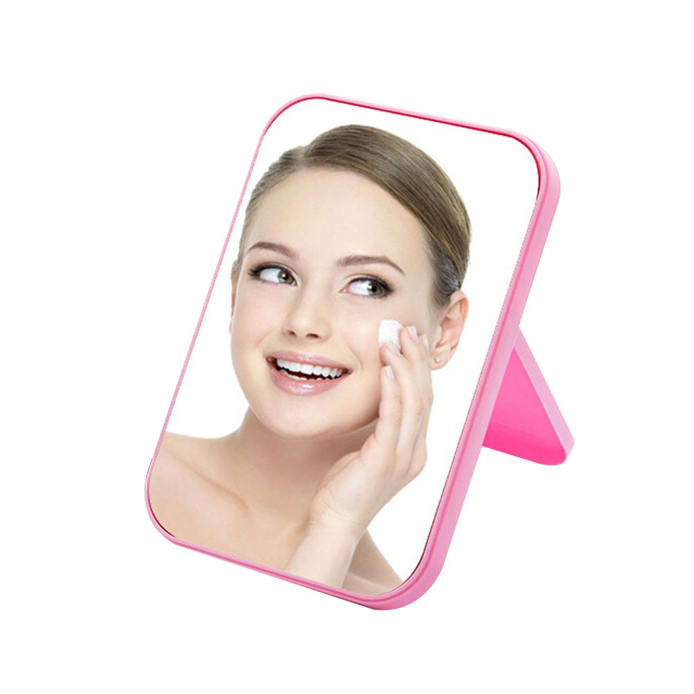 JOLY Tabletop Vanity Makeup Mirror 4 Color for You Choice (Pink)
