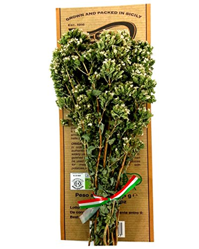 Certified Organic Italian Oregano 3 Bunches - 25 Gram Each - Grown in Sicily - Pack of 3 by Paesanol
