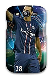 Cynthaskey Scratch-free Phone Case For Galaxy S3- Retail Packaging - Best Latest Zlatan Ibrahimovic Psg